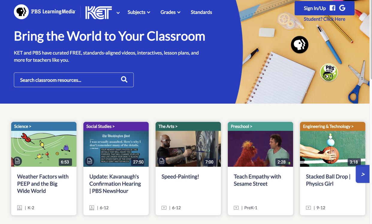 PBS LearningMedia screenshot