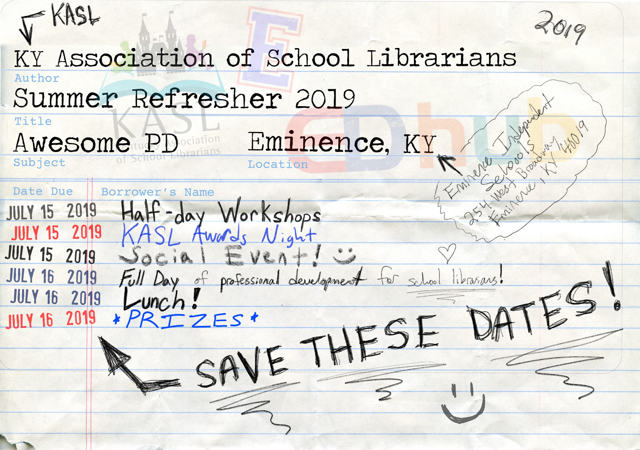 save the date for summer refresher 2019